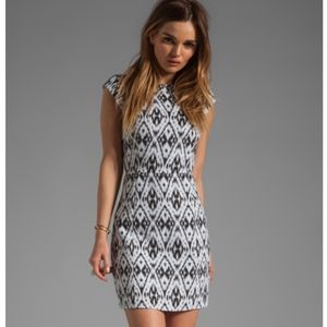 Theory Andes Orinthia Graphic Jacquard Dress